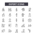 expert line icons signs set outline vector image vector image