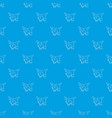 flags pattern seamless blue vector image vector image