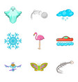 fly cruise icons set cartoon style vector image vector image