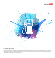 gas station icon - watercolor background vector image