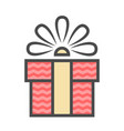 gift box with ribbon flat design banners vector image