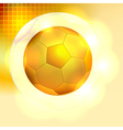 Golden soccer ball background vector image