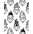 graphic flaming gemstones vector image vector image