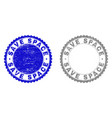 grunge save space textured stamp seals vector image vector image