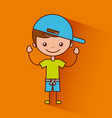 happy child vector image vector image