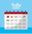 healthy habits lifestyle concept vector image vector image