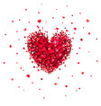 heart of little red hearts vector image vector image