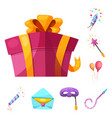 isolated object of party and birthday icon vector image