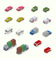 isometric transport icon set simple flat vector image