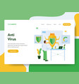 landing page template anti virus concept vector image