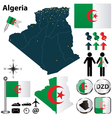 Map of Algeria vector image vector image