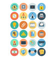 Office Flat Icons 5 vector image vector image