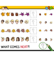 pattern activity for kids vector image vector image
