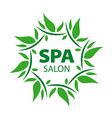 plant round logo for Spa salon vector image vector image