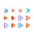 play button creative logo collection right vector image vector image