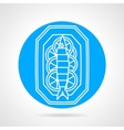 Prepared fish blue round icon vector image vector image