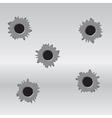 set bullet holes vector image