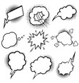 set empty comic style speech bubbles with vector image vector image