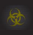 sign biohazard vector image