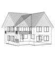 sketch house on the white background eps vector image vector image