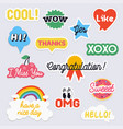 social network stickers with notes for online vector image