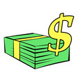 stack dollars icon icon cartoon vector image