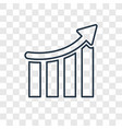 statistics concept linear icon isolated on vector image