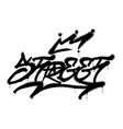 street graffiti vector image vector image