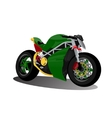super sport extreme green bike motorcycle vector image vector image