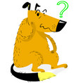 thinking dog thinking funny dog sitting and vector image vector image