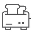 toaster line icon appliance and electrical vector image vector image