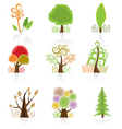 tree collection icon vector image