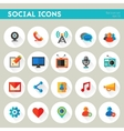 Trendy detailed social icon set vector image vector image