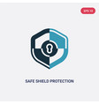 two color safe shield protection icon from vector image vector image