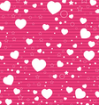 Valentine Day and White Heart on Pink background vector image vector image