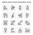 winch lifting icon vector image vector image