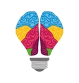 Brain icon human organ design graphic vector image