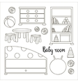 Interior of baby room vector image