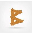 Wooden Boards Letter B vector image