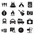 discovery traveling camping icons vector image