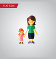 isolated mother flat icon daugther element vector image
