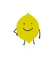 lemon cute character for your design vector image