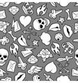 Seamless pattern with retro tattoo symbols vector image