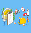 3d isometric conceptual vector image vector image