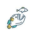 aquatic food web rgb color icon