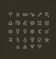 astrology symbols and mystic signs set
