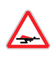 attention super hero danger superhero road red vector image vector image
