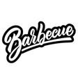 barbecue lettering phrase on light background vector image vector image