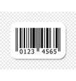 barcode icon numbers bar code label vector image vector image