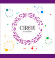 bright violet circle infographic with header vector image vector image